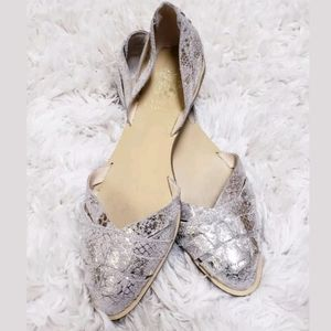 Vince Camuto Silver US 9 M EUR 39 Leather Shoes